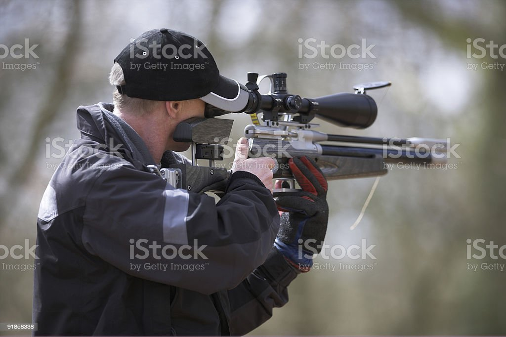 Field Target Shooter royalty-free stock photo
