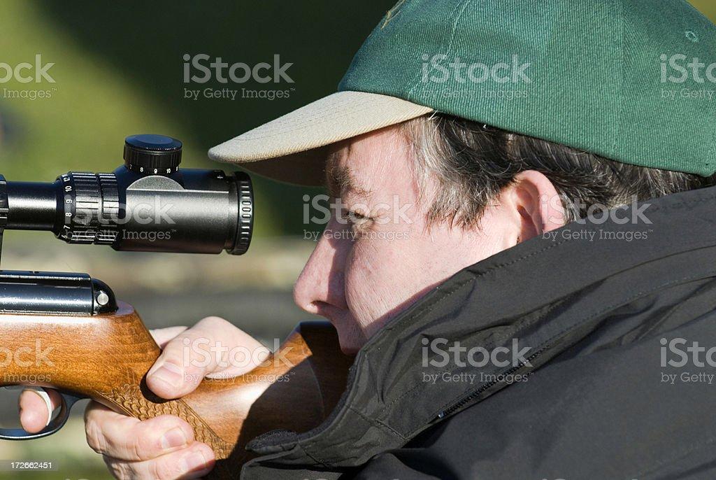 Field target shooting. royalty-free stock photo