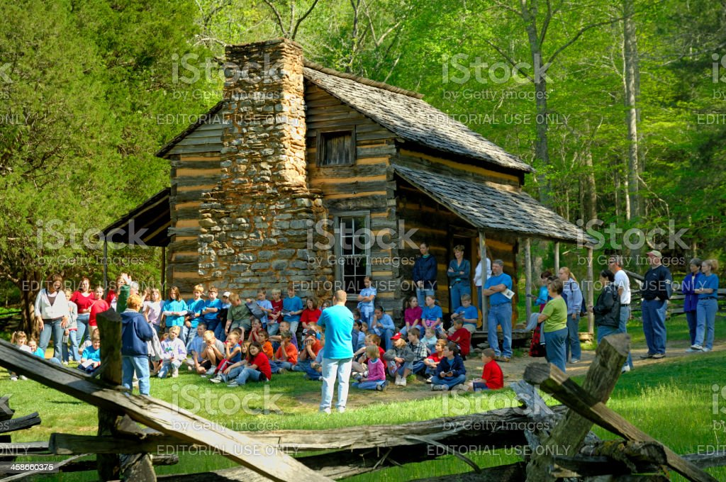 Field trip to Cade's Cove, Smoky Mountains, TN royalty-free stock photo