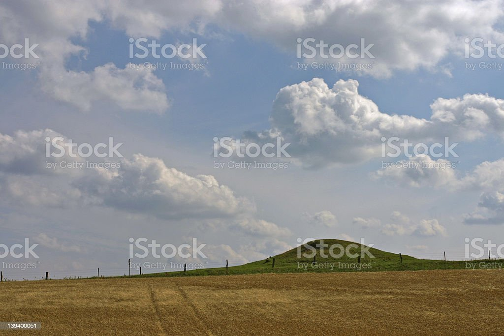 Fields and hills royalty-free stock photo
