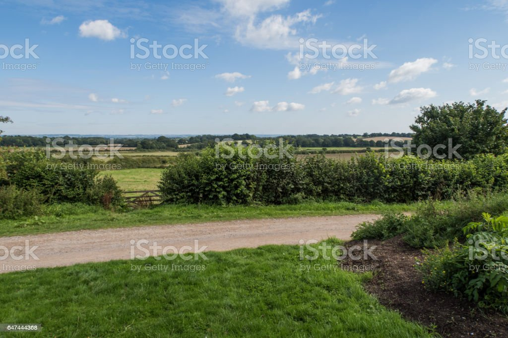 Fields and Meadows around Sissinghurst stock photo