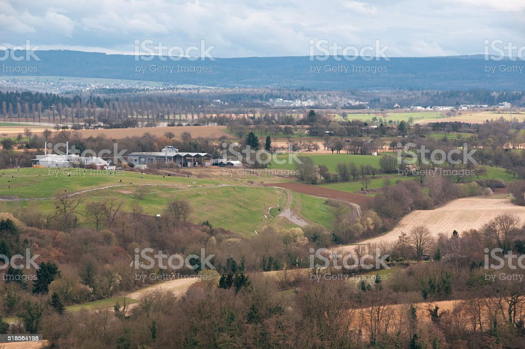 Fields and meadows in Karlsruhe stock photo