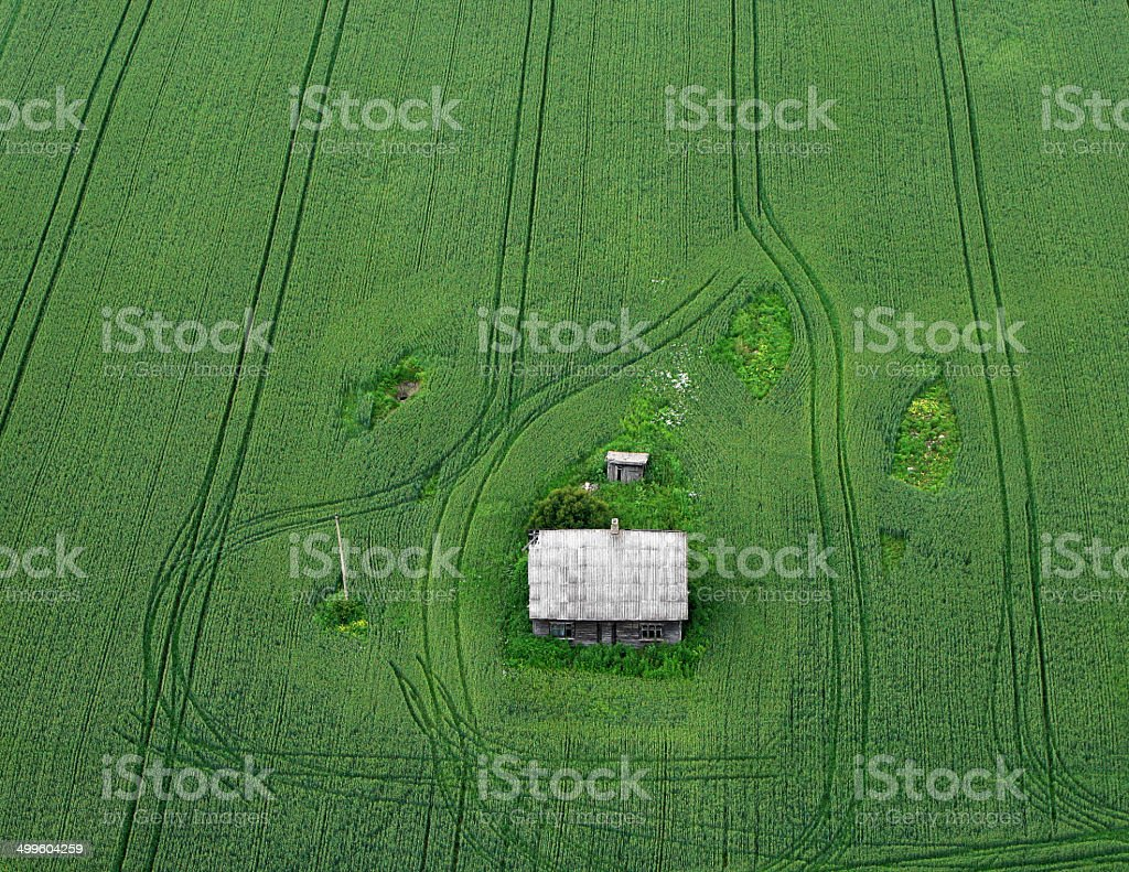 Fields from the sky stock photo