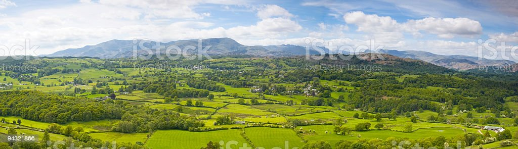 Fields, woods, villages, mountains royalty-free stock photo