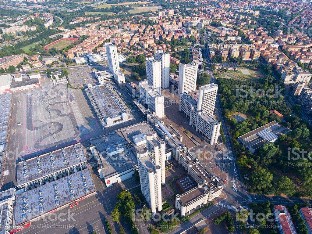 Fiera District in Bologna stock photo