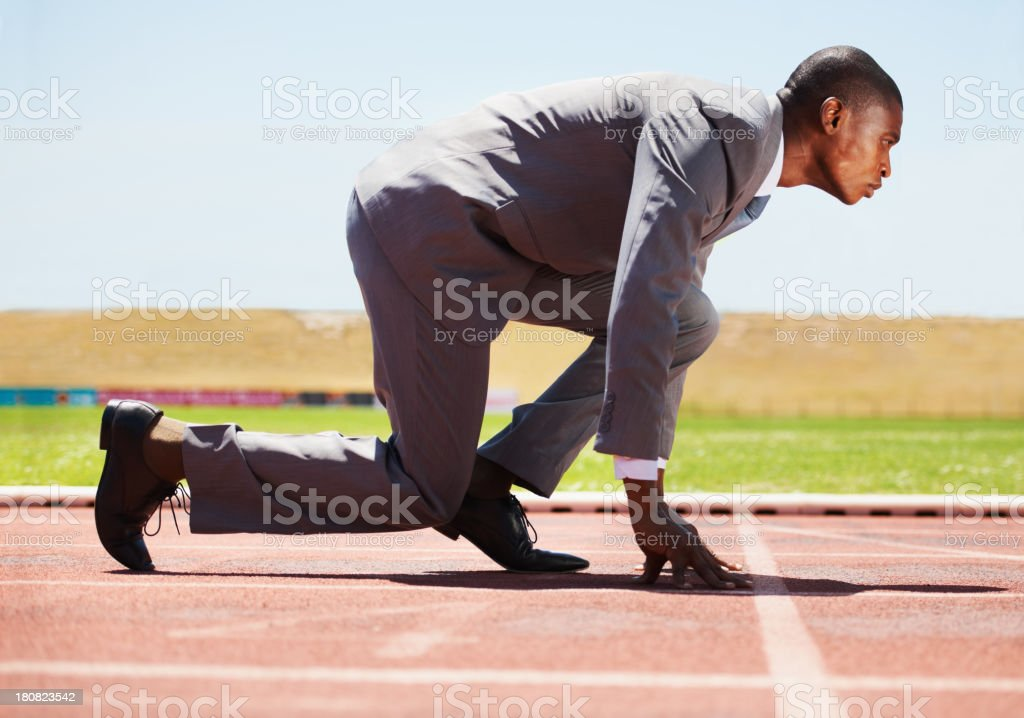 Fierce competitor stock photo