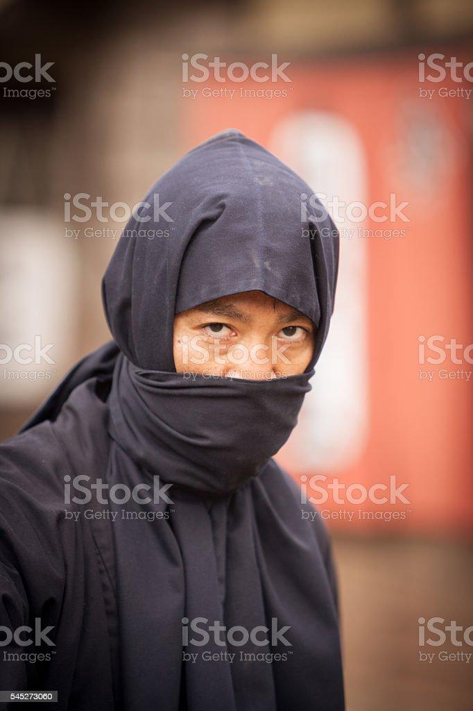Fierce Japanese Ninja stock photo