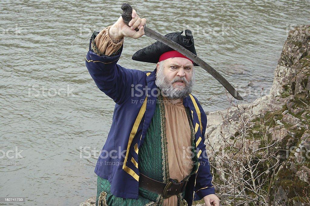 Fierce Pirate stock photo