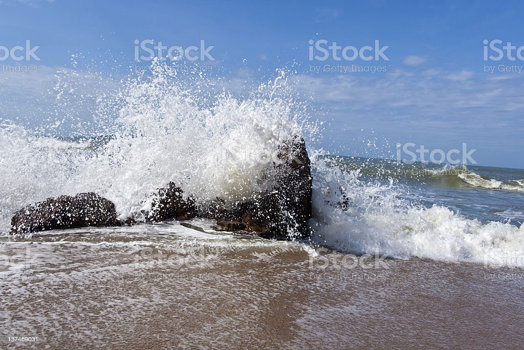 Fierce waves royalty-free stock photo