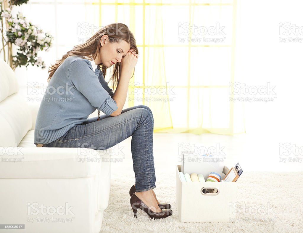 Fiered upset woman. royalty-free stock photo