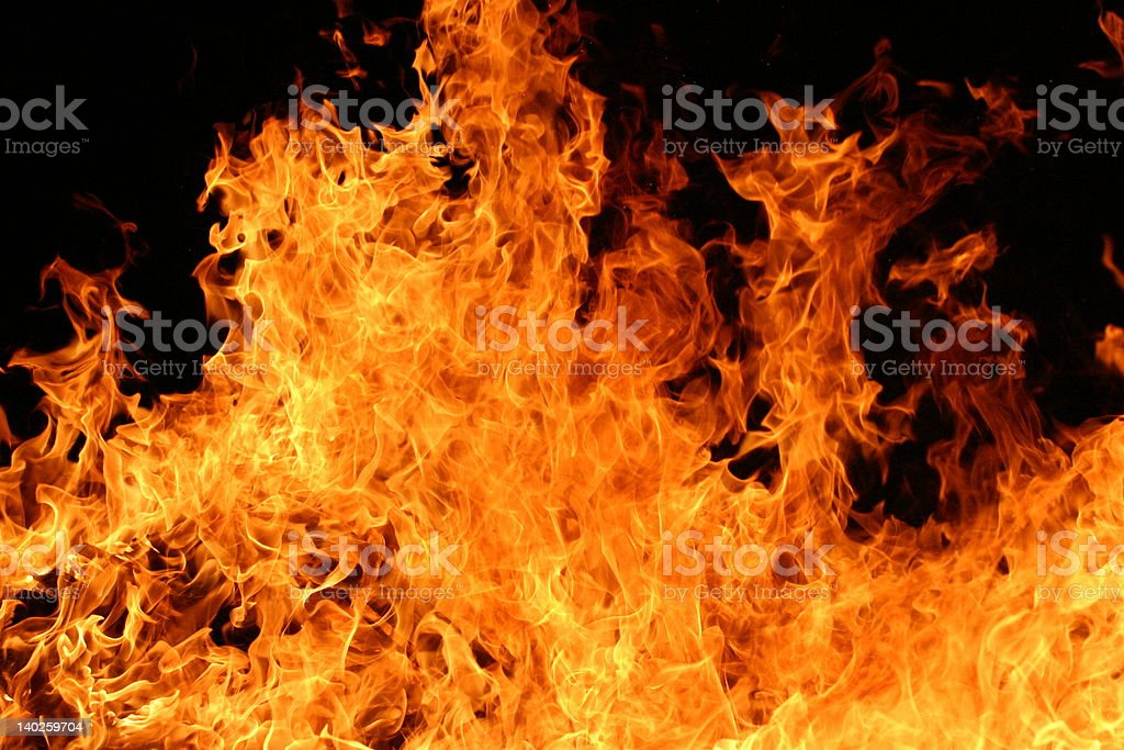 Fiery Blaze stock photo