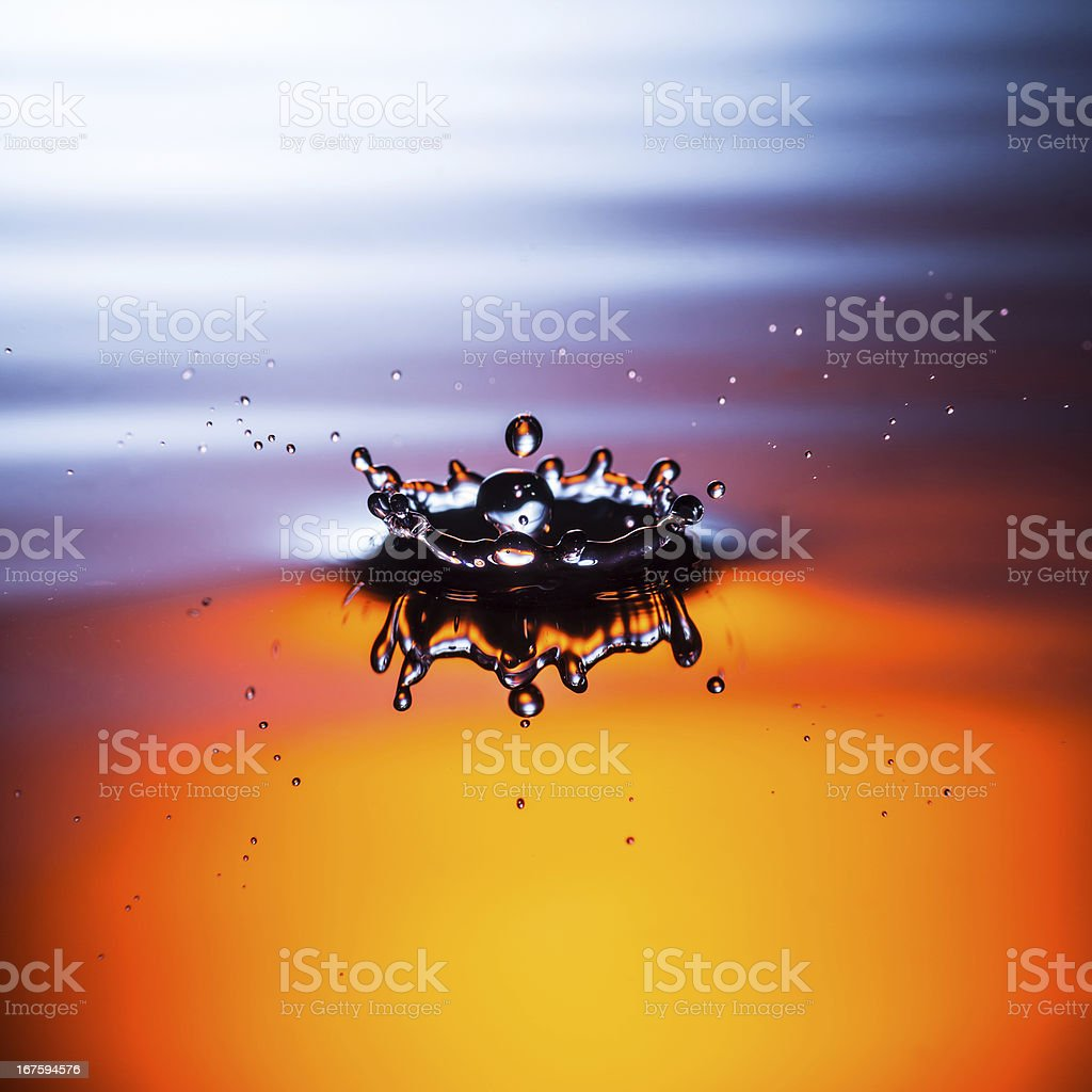 Fiery Crown royalty-free stock photo