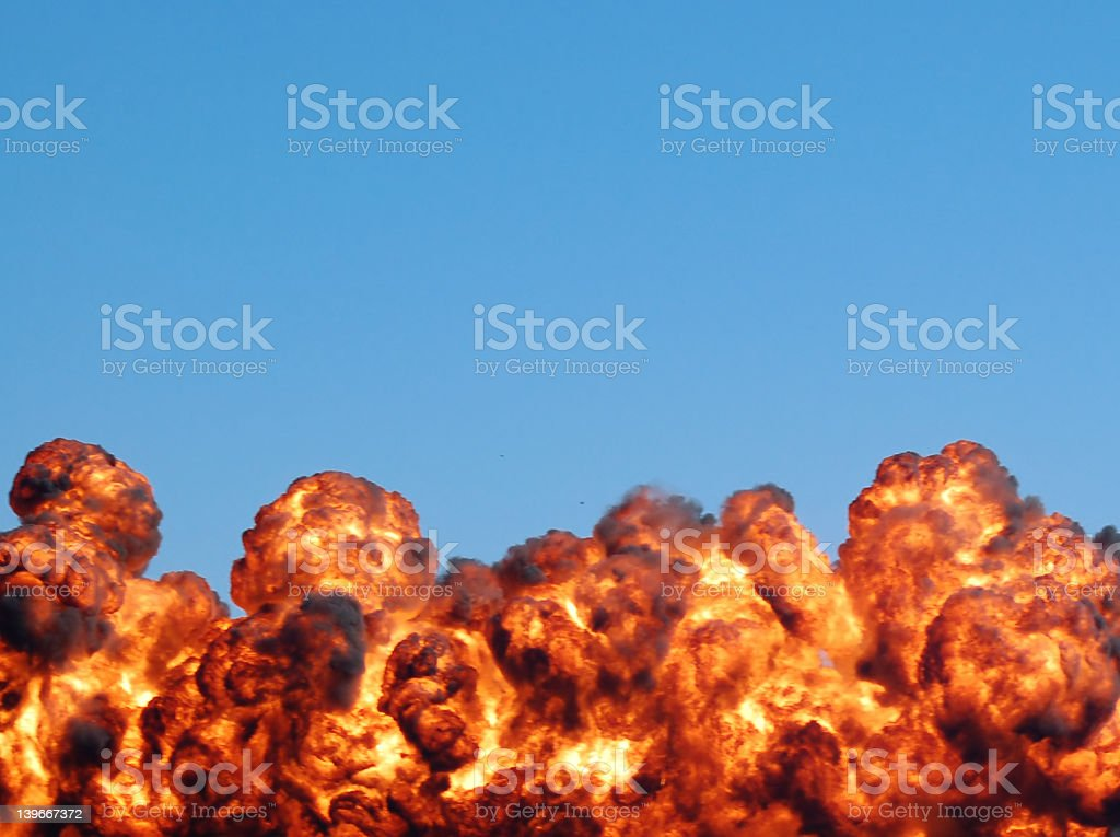 Fiery explosion royalty-free stock photo