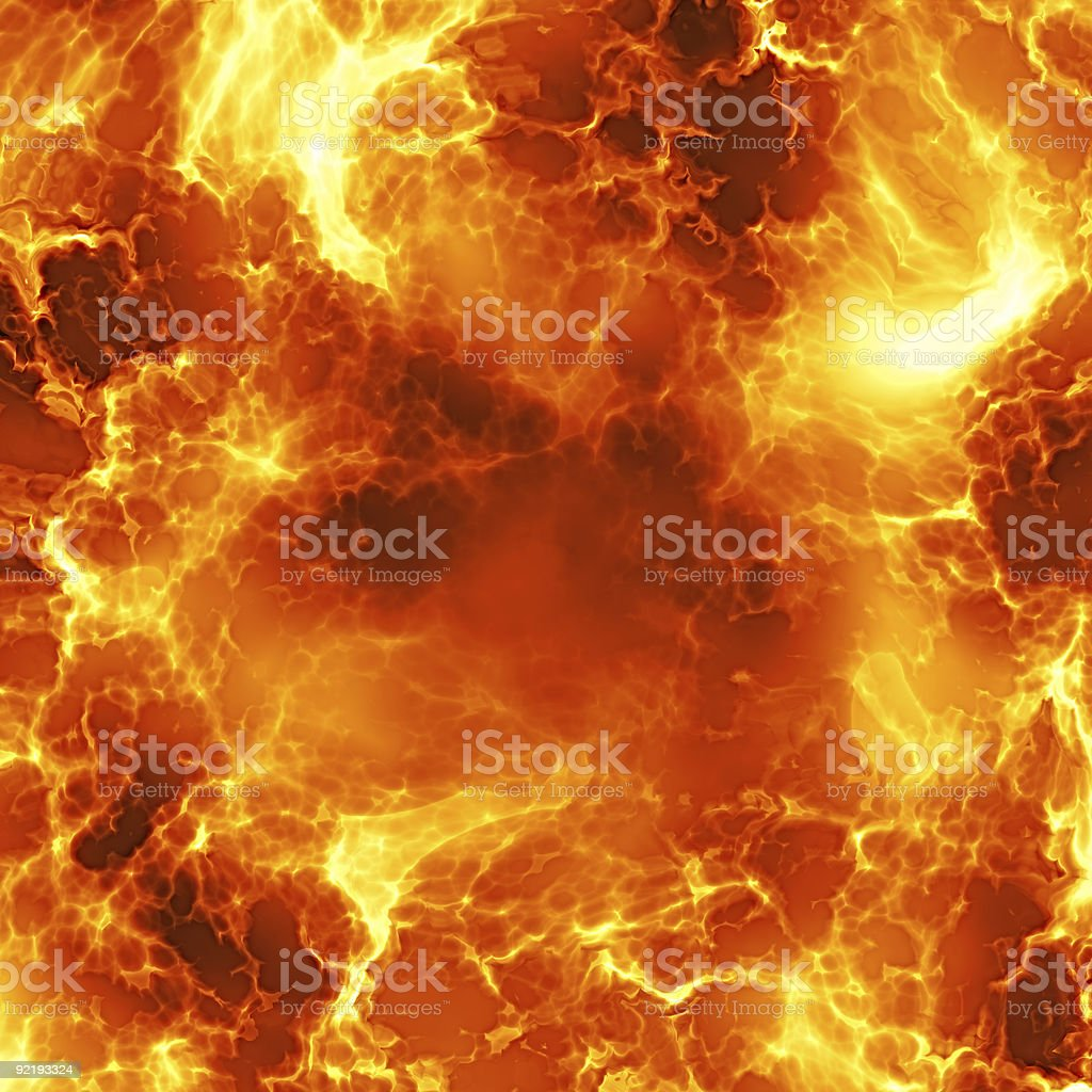 Fiery explosion stock photo