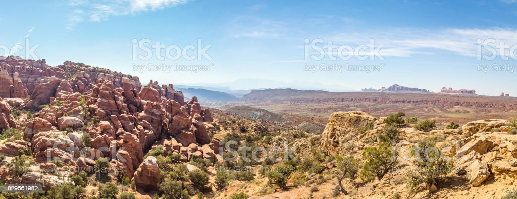 Fiery Furnace Arches National Park stock photo