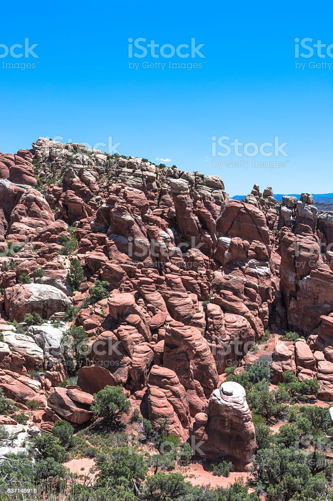 Fiery Furnace in Arches National Park, Utah stock photo