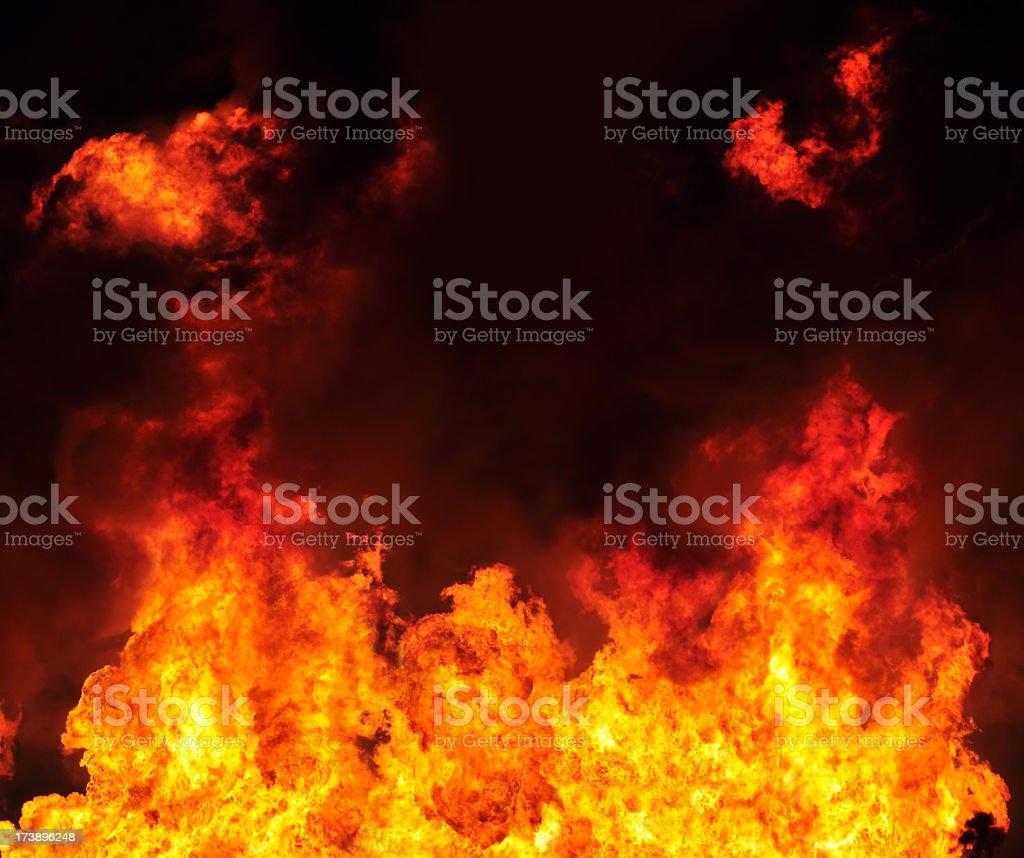 Fiery Inferno royalty-free stock photo