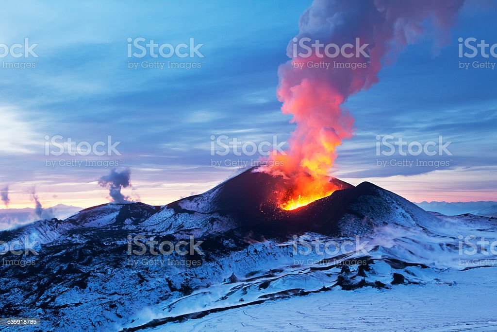 Fiery Kamchatka stock photo