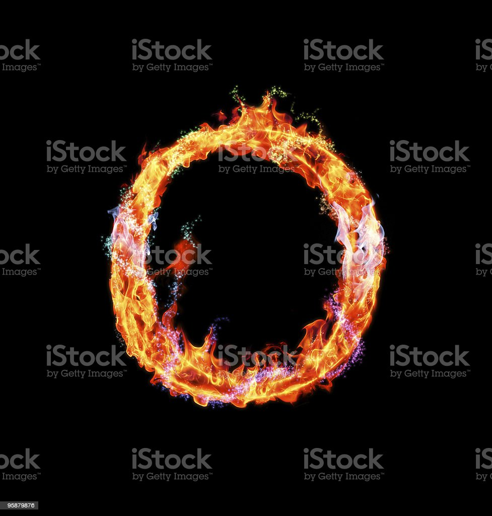 Fiery magic font - O royalty-free stock photo