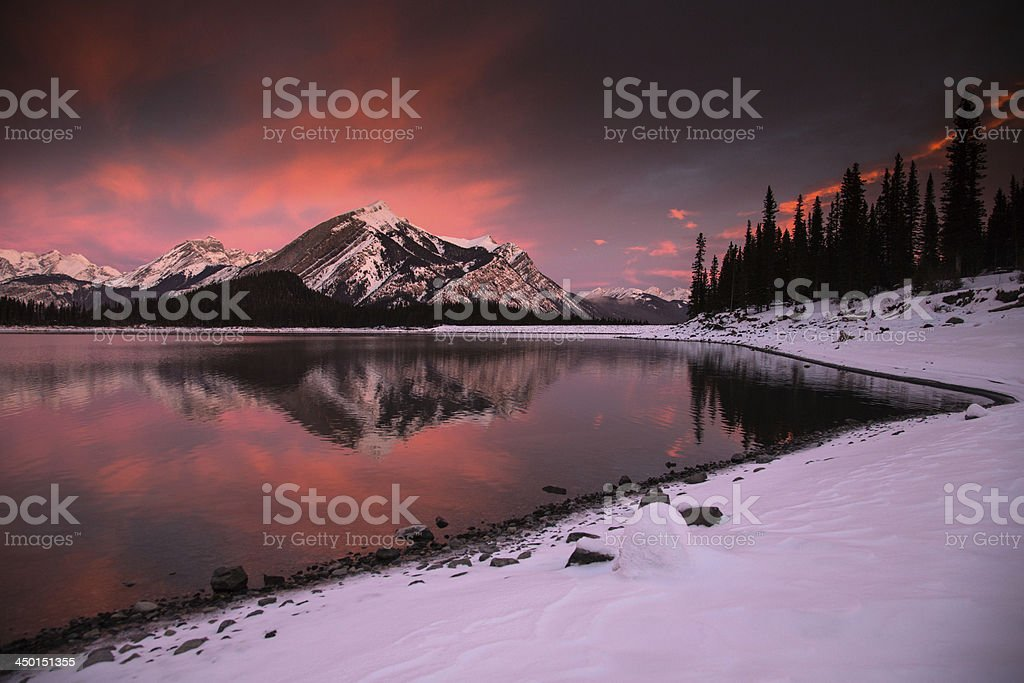 Fiery Mountain Sunrise stock photo