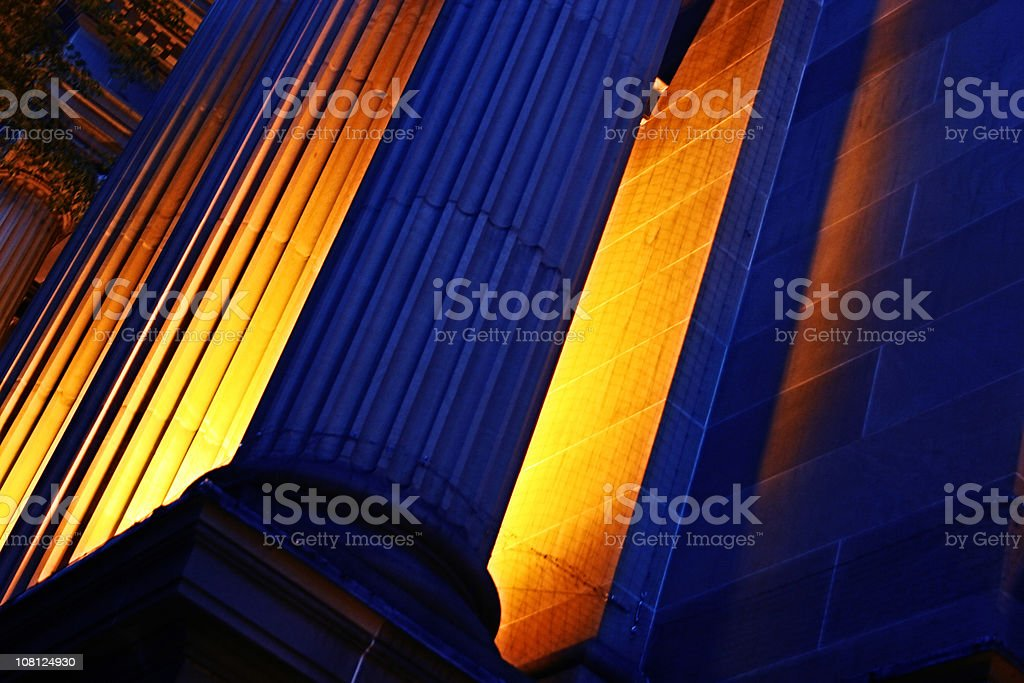Fiery Pillars royalty-free stock photo