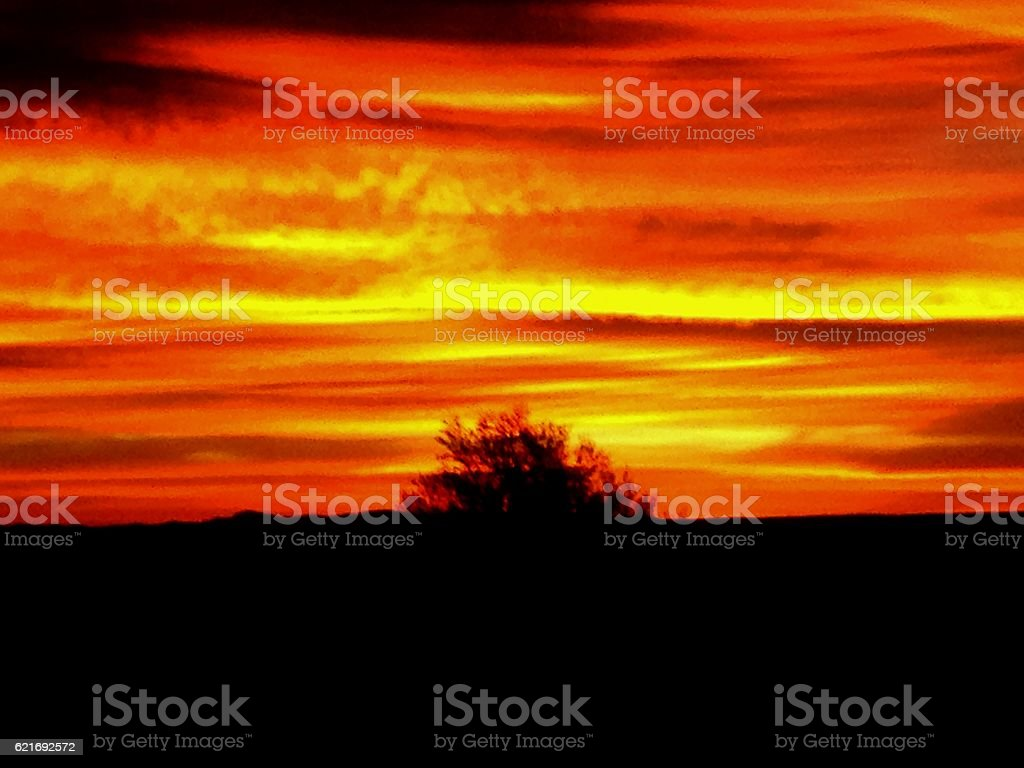 Fiery Skies stock photo