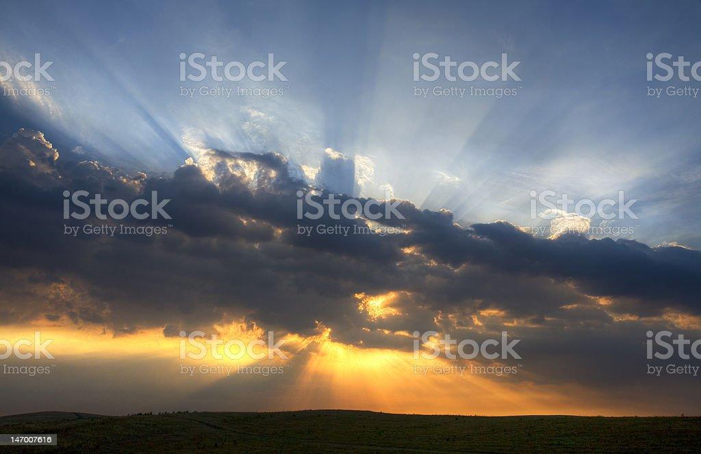Fiery sunrise royalty-free stock photo