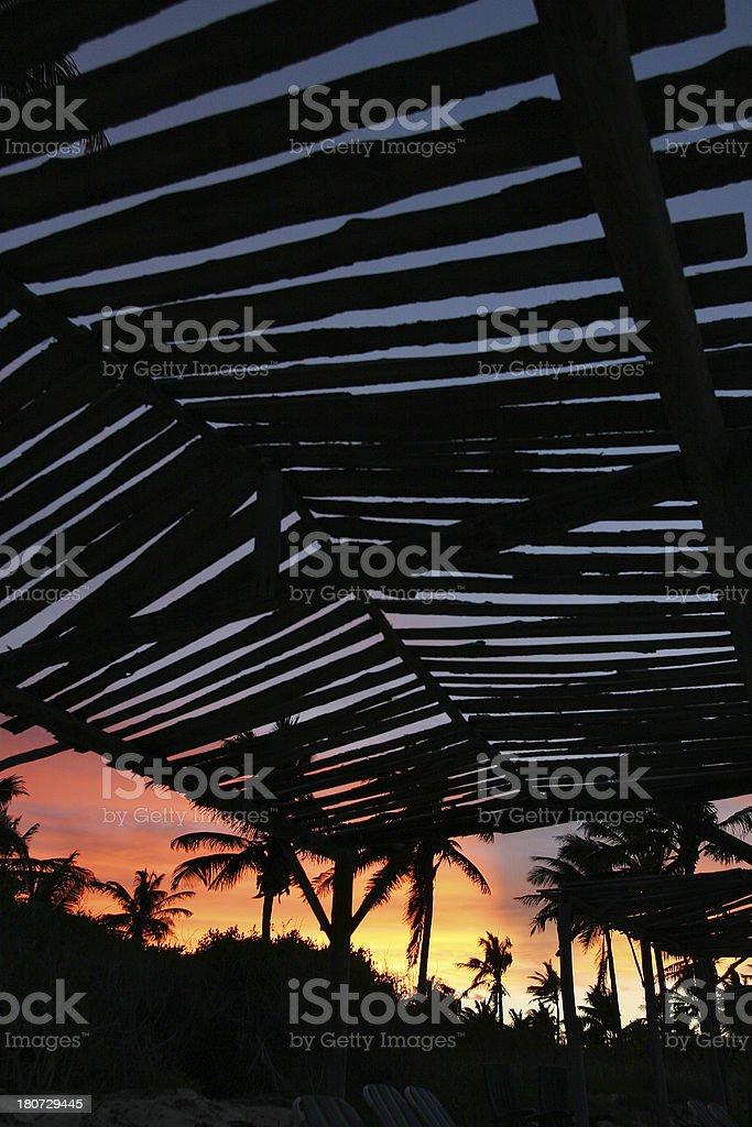 Fiery Sunset 1 stock photo