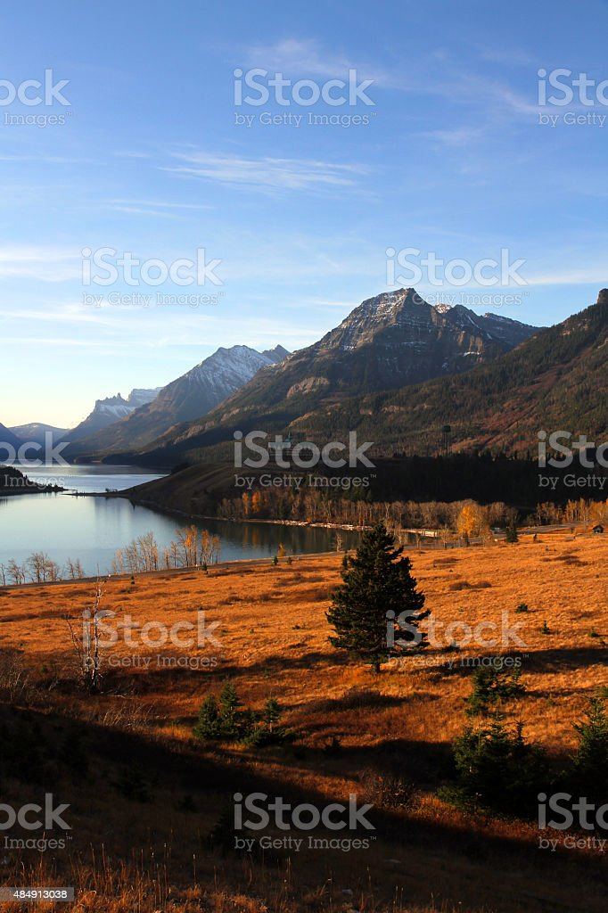 Fiery Valley stock photo
