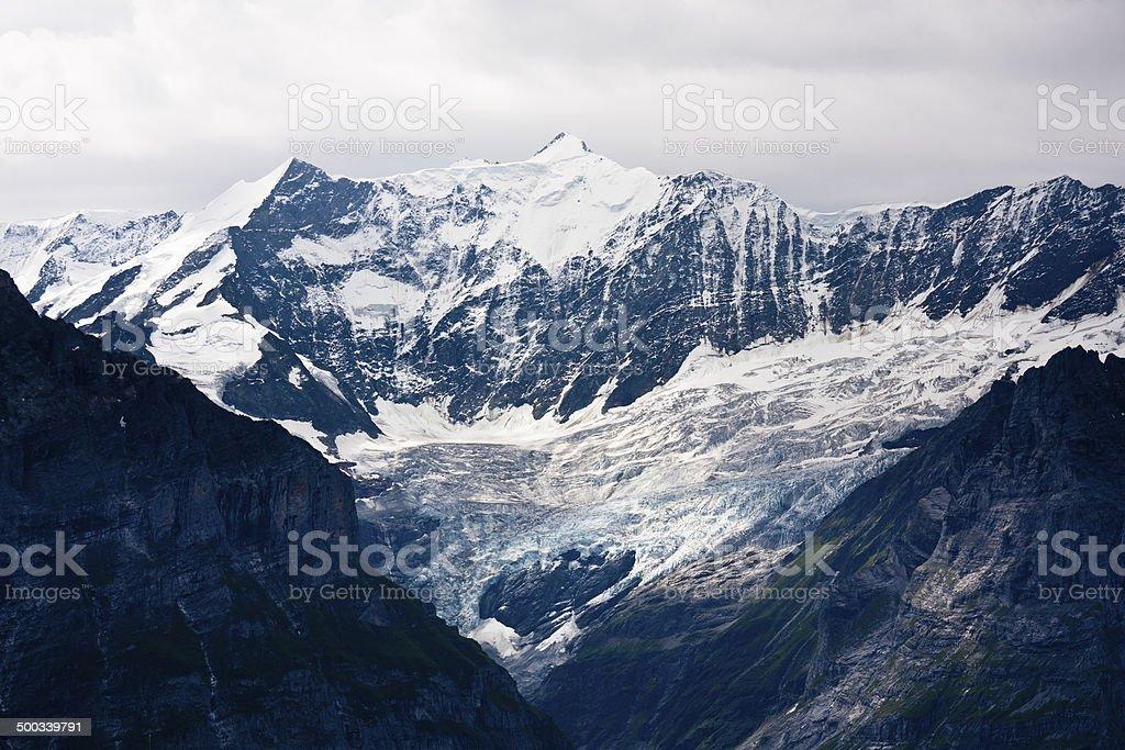 Fiescherhorn, Swiss Alps royalty-free stock photo