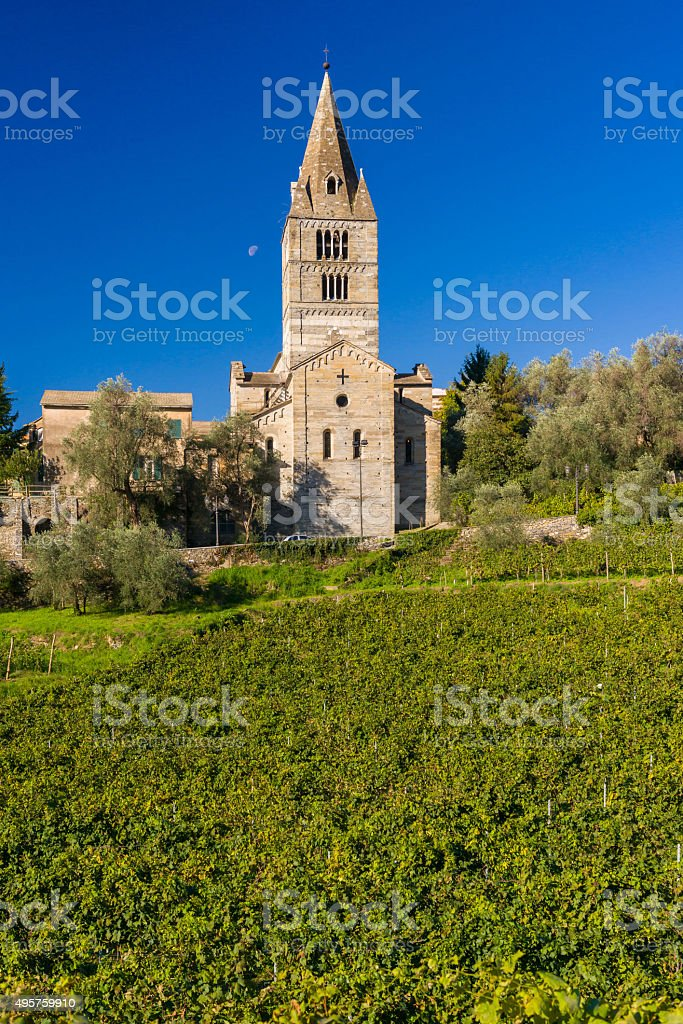 Fieschi Basilica stock photo