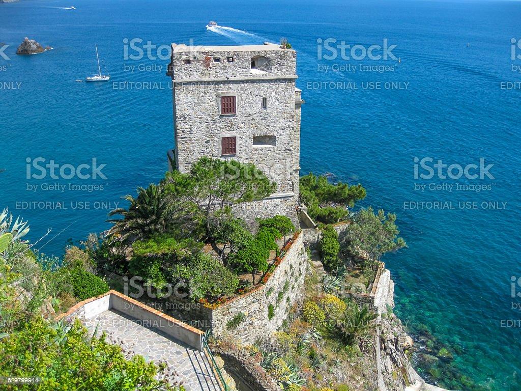 Fieschi Castle Italy stock photo