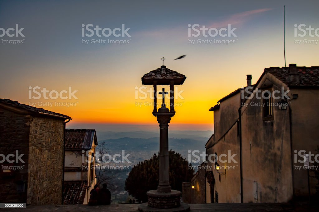 Fiesole cityscape stock photo