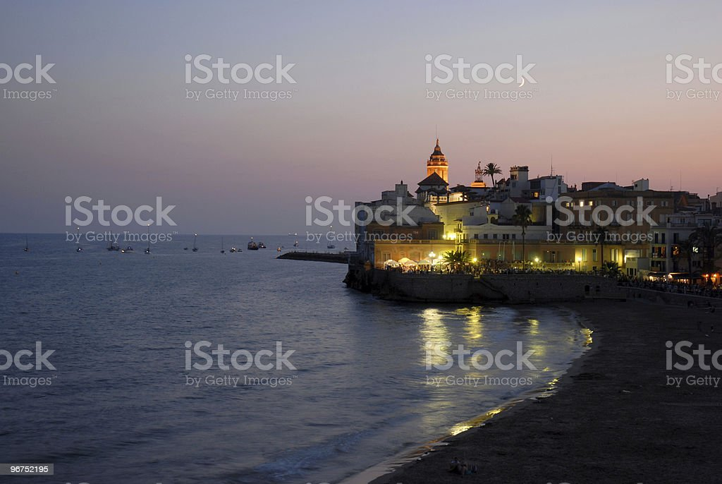 Fiesta Major in Sitges stock photo