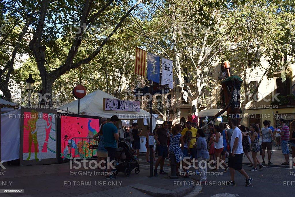 Fiesta Mayor de Gracia, Barcelona stock photo