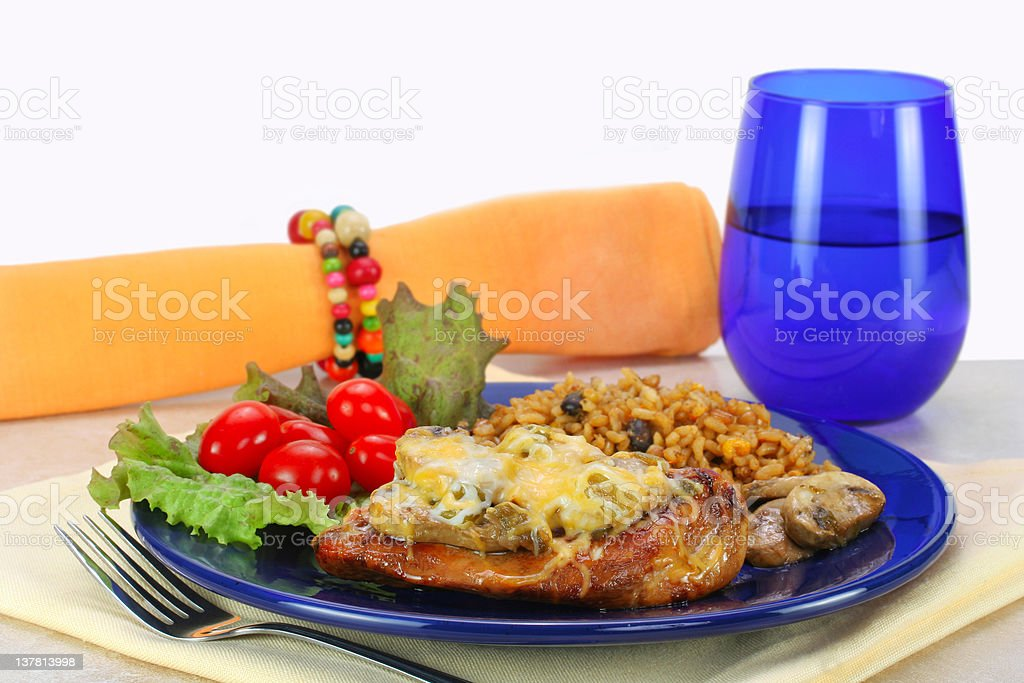 Fiesta Tex Mex Chicken with Rice royalty-free stock photo
