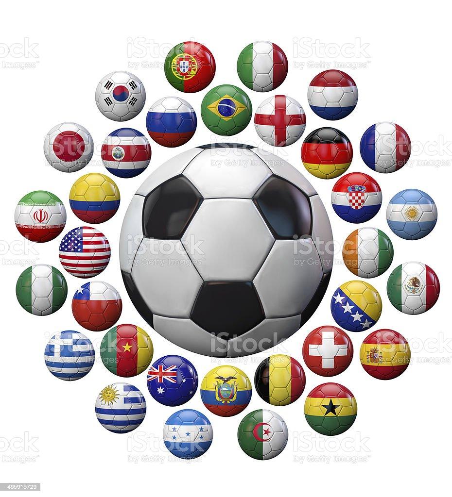 Fifa World Cup Brazil 2014 Teams royalty-free stock photo