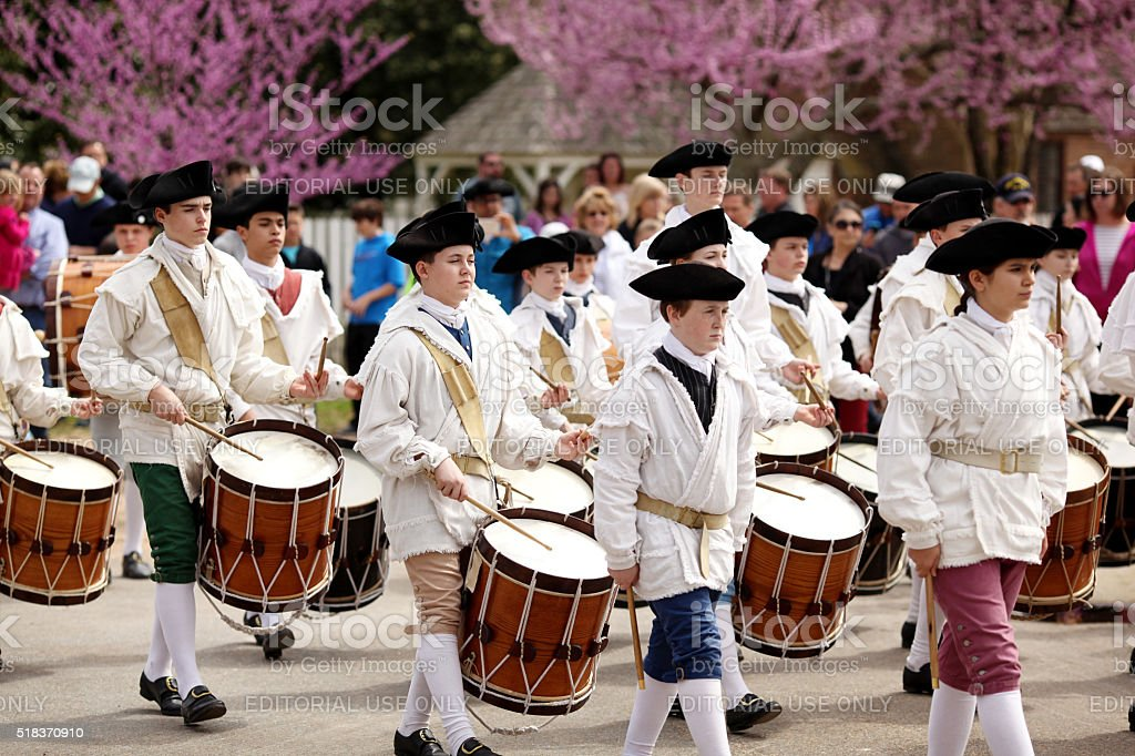 Fife and Drums stock photo
