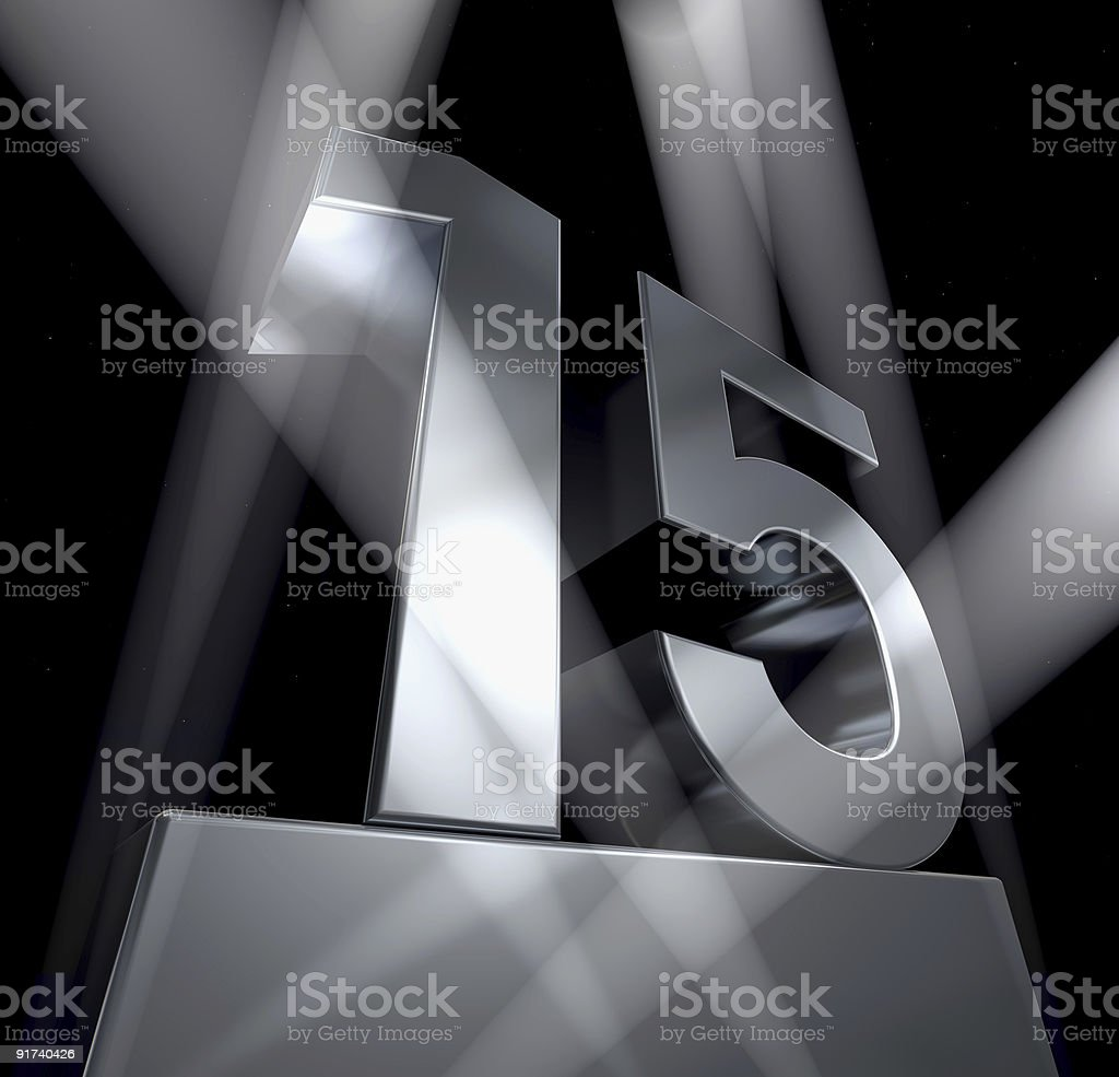 fifeteen celebration monument 15 royalty-free stock photo
