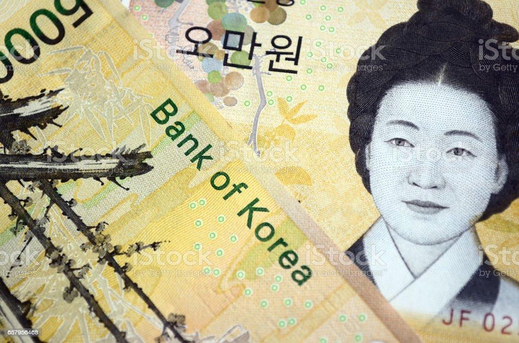 Fifity Thousand South Korean Won Currecny stock photo