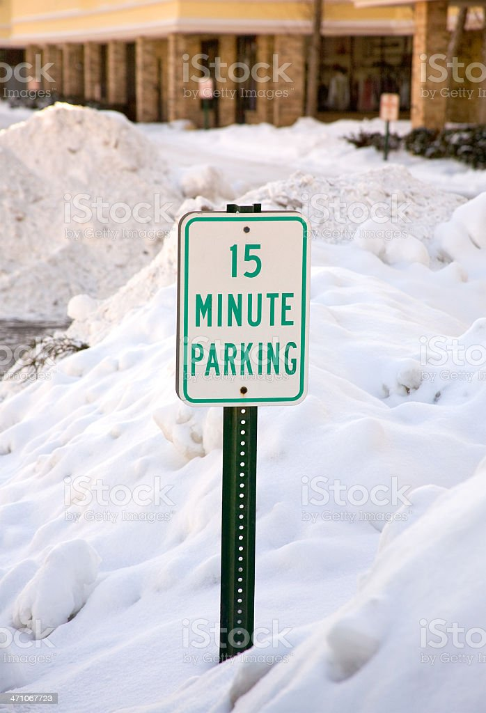 fifteen min parking royalty-free stock photo
