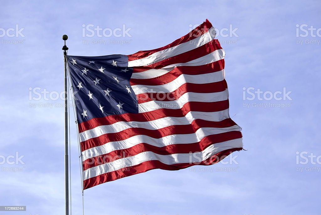 Fifteen Star  US Flag royalty-free stock photo
