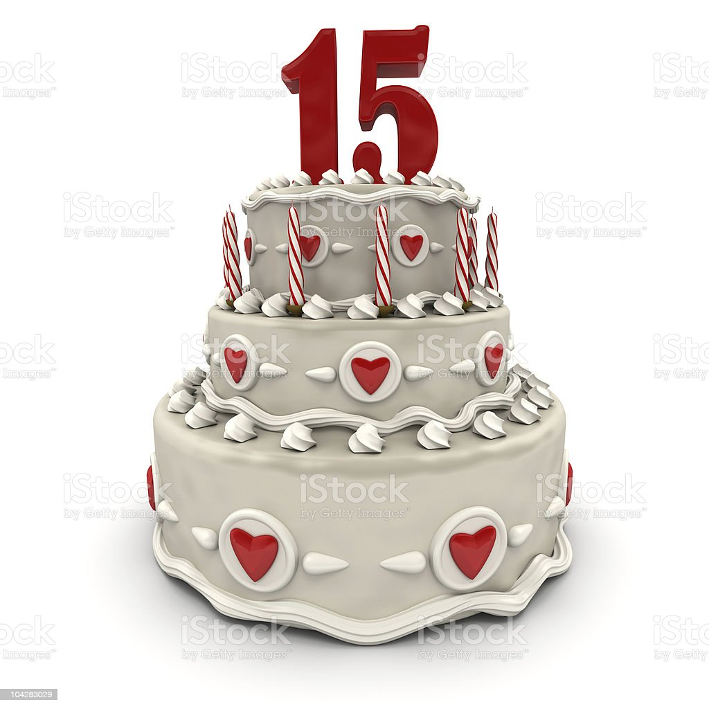 Fifteenth anniversary royalty-free stock photo
