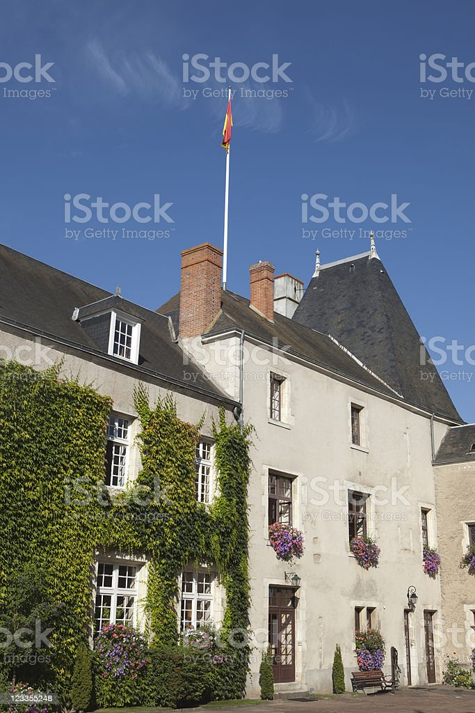 fifteenth century castle of the Stuarts at Aubigny-sur-N?re royalty-free stock photo