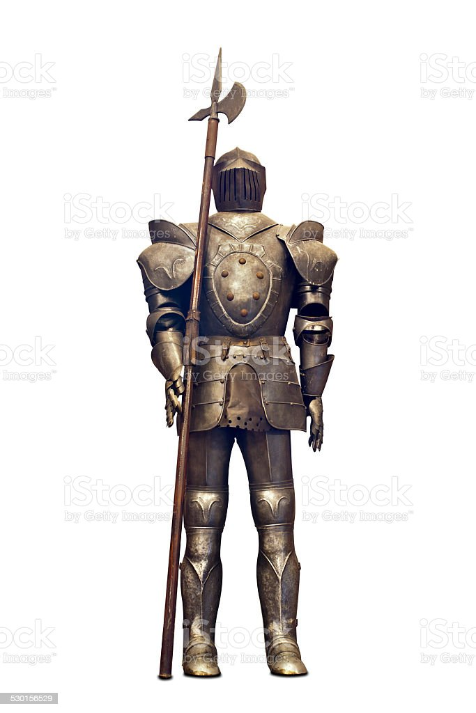 Fifteenth Century Medieval Knight with Spear stock photo
