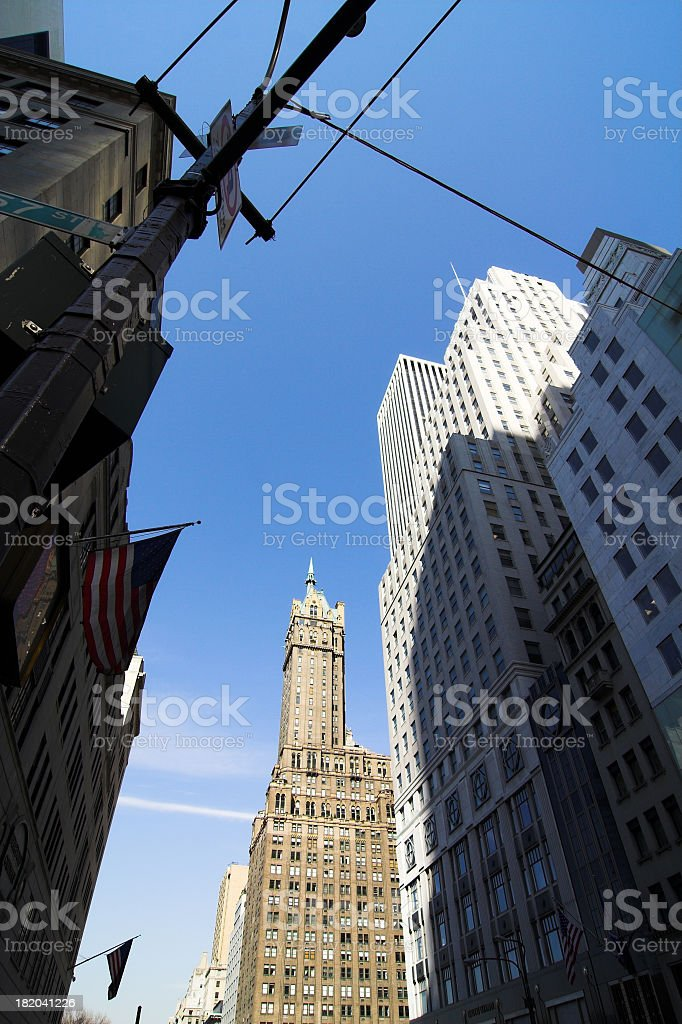 Fifth and 57th Street stock photo