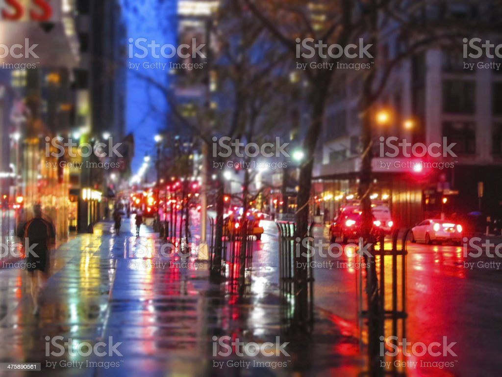 Fifth Ave Abstract stock photo