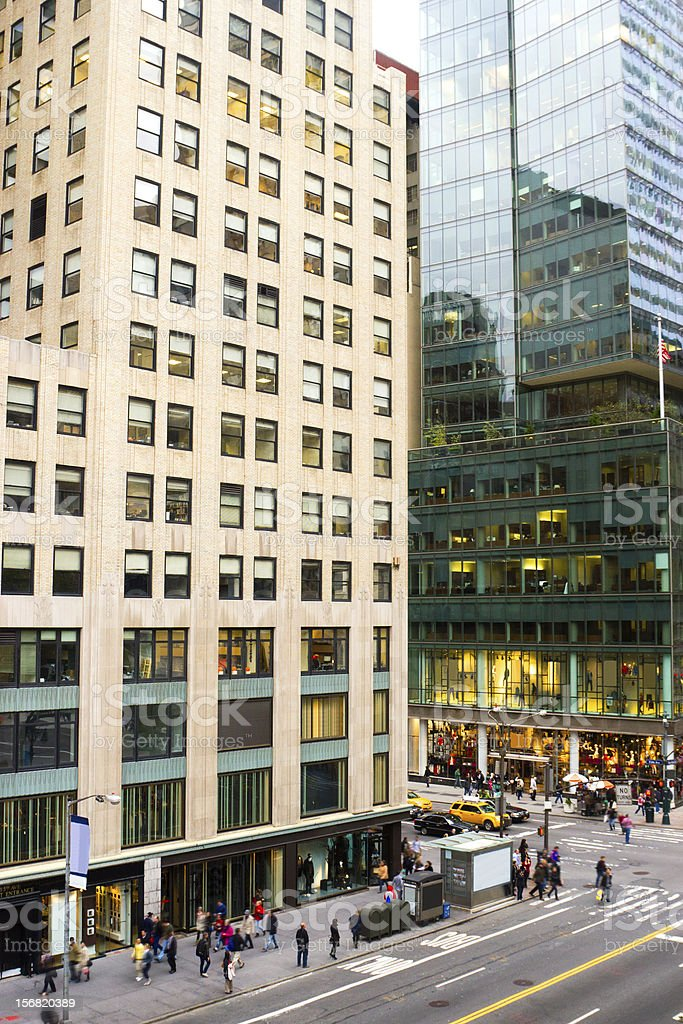 Fifth Avenue and 42nd Street, New York royalty-free stock photo