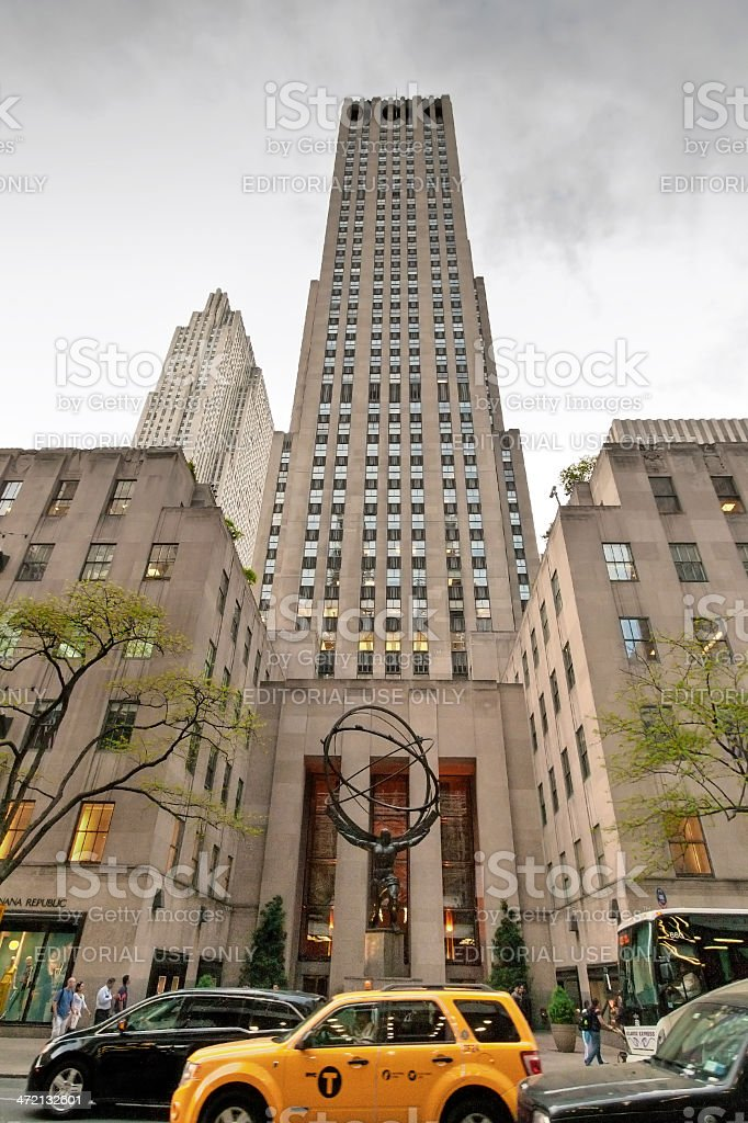 Fifth Avenue in Midtown New York City. stock photo