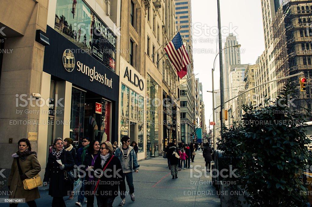 Fifth Avenue New York City stock photo